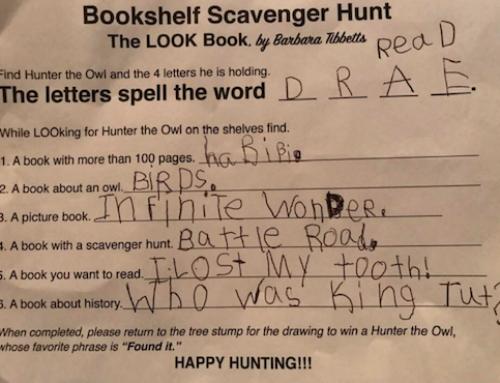 Hunter is Here Bookshelf Scavenger Hunt